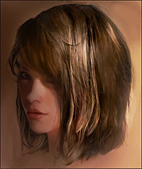 Painting Hair