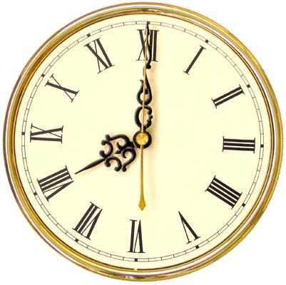 Original image of a clock