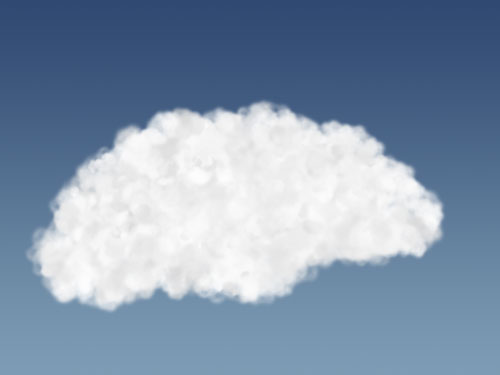 Improved cloud shape with medium brush