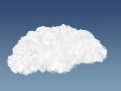Improved cloud shape with small brush