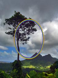 Rainbow in the shape of an ellipse