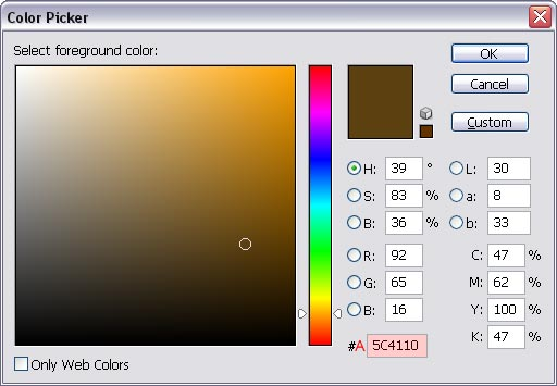 Color Picker window